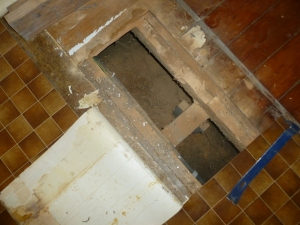 REPAIR WORK: Work has begun on addressing rotten flooring underneath the Government Building's Meeting Hall.